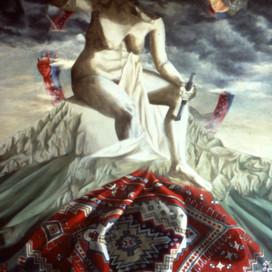 Sculptured, 1991 Oil on linen 137 x 183 cm