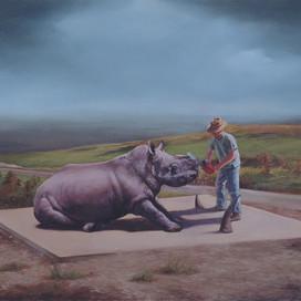 Salvage, 2005 Oil on linen 46 x 71 cm
