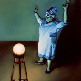 Homage, 2002 Oil on linen  22.5 x 20 cm