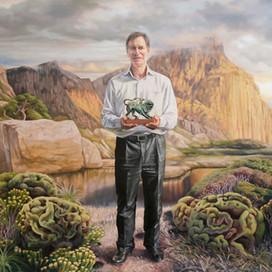 Portrait of Professor Stephen Holdsworth, 2013 oil on linen 147 x 119cm Monash University