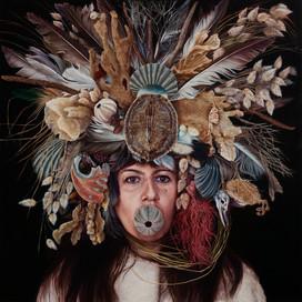 I am the sea, Self portrait Julia Ciccarone, 2014 oil on linen 122 x 122cm 16639