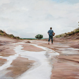 Going home, 2017 oil on board 42 x 72cm 20255 cat.23
