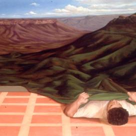 Blanket, 1990 Oil on canvas 121.5 x 167.5 cm
