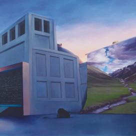 Observation, 2001 Oil on linen 137 x 198 cm