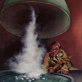 Hocus-Pocus, 2002 Oil on linen 25 x 20 cm