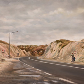 Study for Road to the Lost and Found, 2017 oil on board 26 x 47cm 20268 cat.3