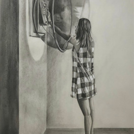 Portal, 2018 charcoal and pencil on paper 64 x 49.5cm 20313 cat.27