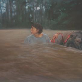 The Flood, 2003 Oil on paper 14 x 18 cm
