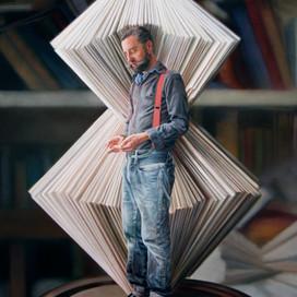 Portrait of Nicholas Jones,  2012 Oil on linen 91.5 x 76 cm Archibald Prize