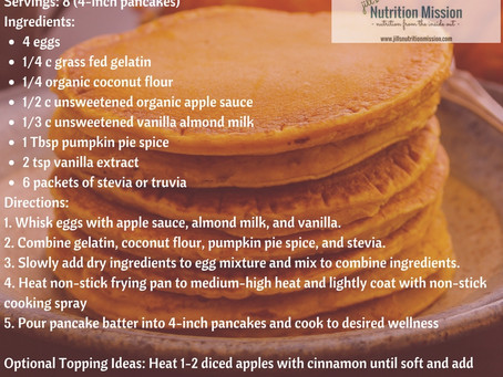 Grain-Free Apple Spiced Pancakes!
