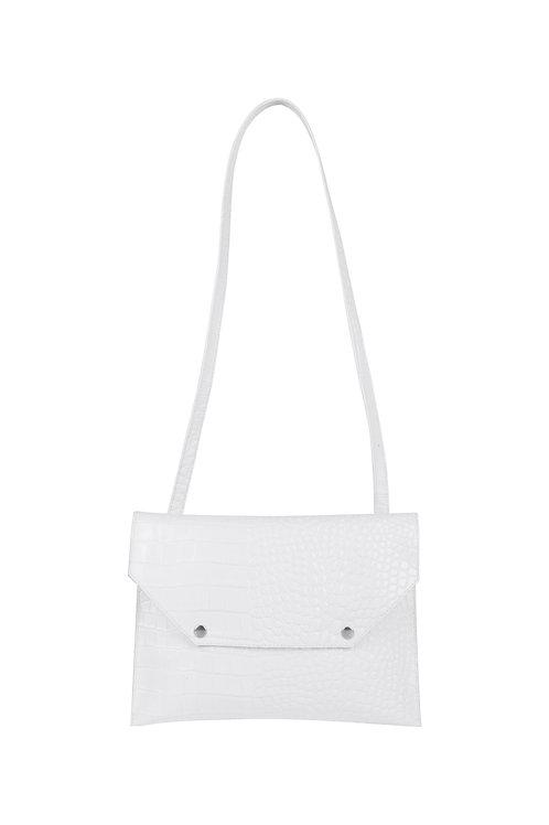Colette - imprimé croco - coloris blanc