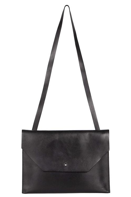 Colette - coloris Noir - anse en cuir