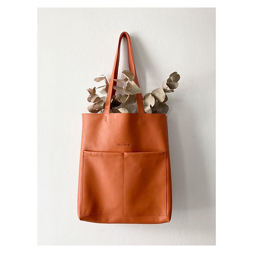 Le tote bag coloris orange - précommande