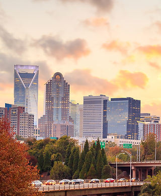 Skyline of downtown Charlotte in north c