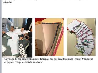 Bravo aux éco citoyens et éco délégués du collège Thomas Mann