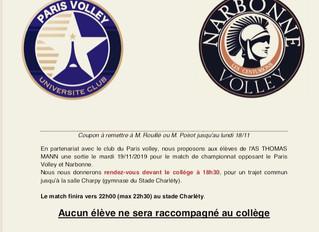 Thomas Mann soutient le Paris Volley