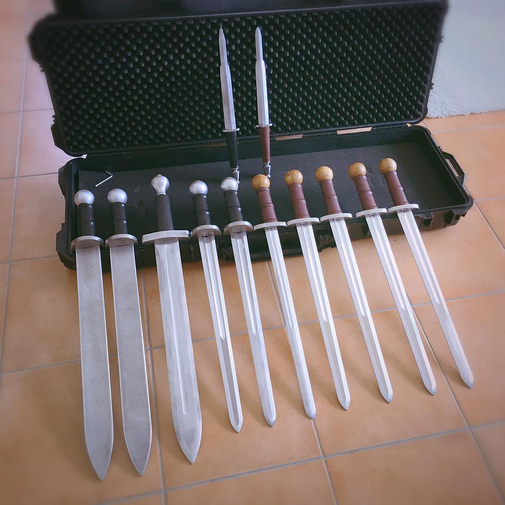 escrime artistique cascdeur rapière aluminium épée duraluminium cinélames location