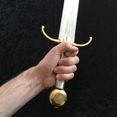 Epée médiévale aluminium dural duraluminium