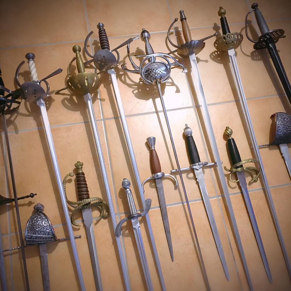 épées aluminium dural duraluminium escrime artistique cinélames location