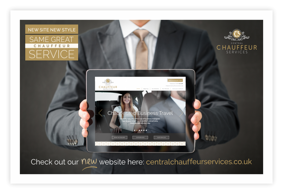 Central Chauffeur Services New Website Design