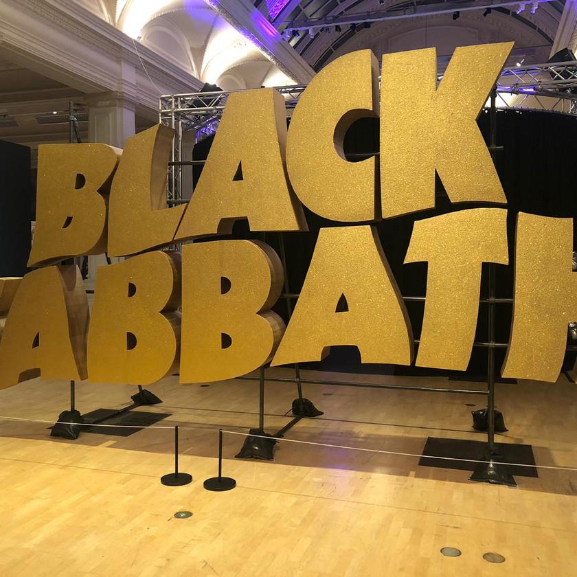 Black Sabbath sign at exhibition in Birmingham