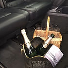 Champagne on ice at Central Chauffeur Services