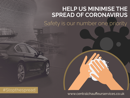 CORONAVIRUS UPDATE: Central Chauffeur Services wheels are still turning!
