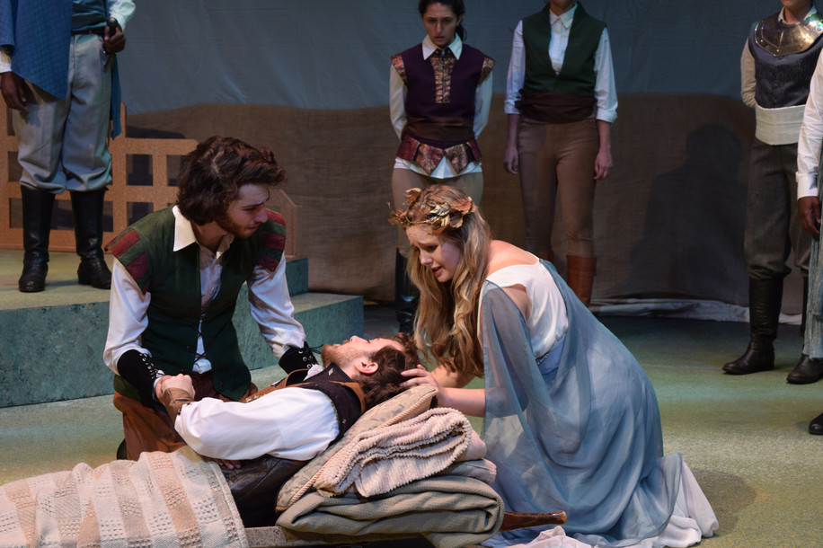 Emilia in THE TWO NOBLE KINSMEN  Directed by Brian B. Crowe Shakespeare Theatre of New Jersey Apprentice Company Costumes by Nicole DeLucia and Maggie Neal Set Design by Nishan Ganimian  Lights by Maria Coppola Photo by Samantha Gordon