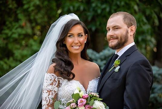 My elegant bride Danielle and her husban