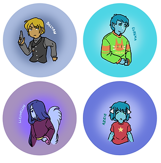 Stellar Eclipse Character Button Set