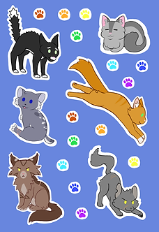 Stellar Eclipse Sticker Sheet: Eureka's Cat Army