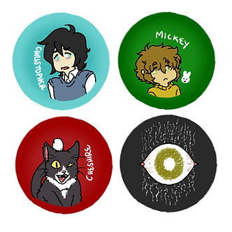 ALiCE Character Button Set