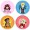 Thumbnail: Like Falling Stars Character Button Set