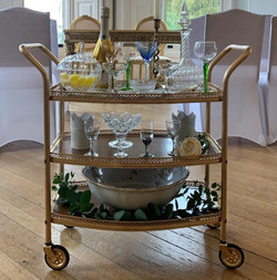 Golden Drinks/Cake Trolley