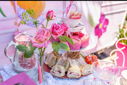 Pink passion afternoon tea