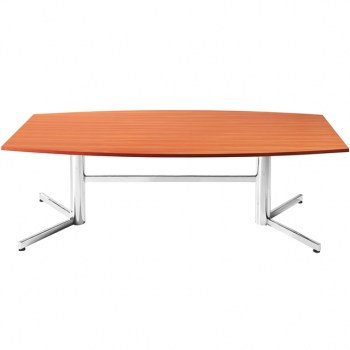 Moon Boardroom Meeting Table Chrome Base
