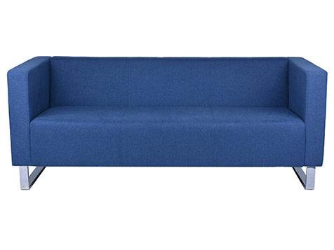Gentian Fabric Lounge Chair 3 Seater