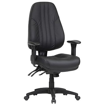 Rover Leather Office Chair High Back