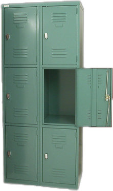 Lance Metal Combination Locker 6 Door Cupboard