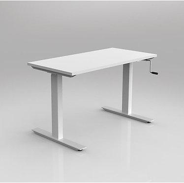 Winder Manual Adjustable Straight Desk Metal Leg