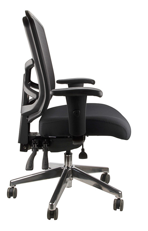 Casper Office Chair Mesh Back Black Fabric
