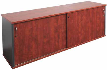 Bramble Buffet Sliding Door Cupboard Mahogany Colour
