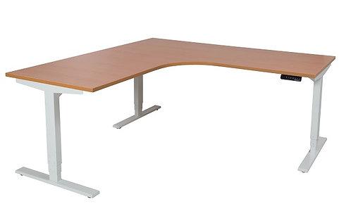 Sit Stand Corner Workstation Adjustable Electric Metal Leg