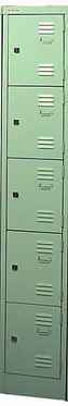 Lupine Metal Locker 5 Door Cupboard