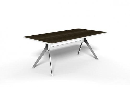 Melon Boardroom Meeting Table Chrome Base