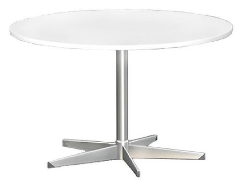 Round Meeting Table with 5 Star Chrome Base