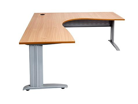 Workstation With Metal Legs. Top Colour: Beech, White Leg Colour: Black,  Silver, White **Please Put In All The Options To Check The Price.