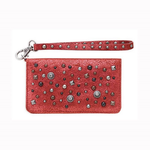POCHETTE CUIR ROUGE