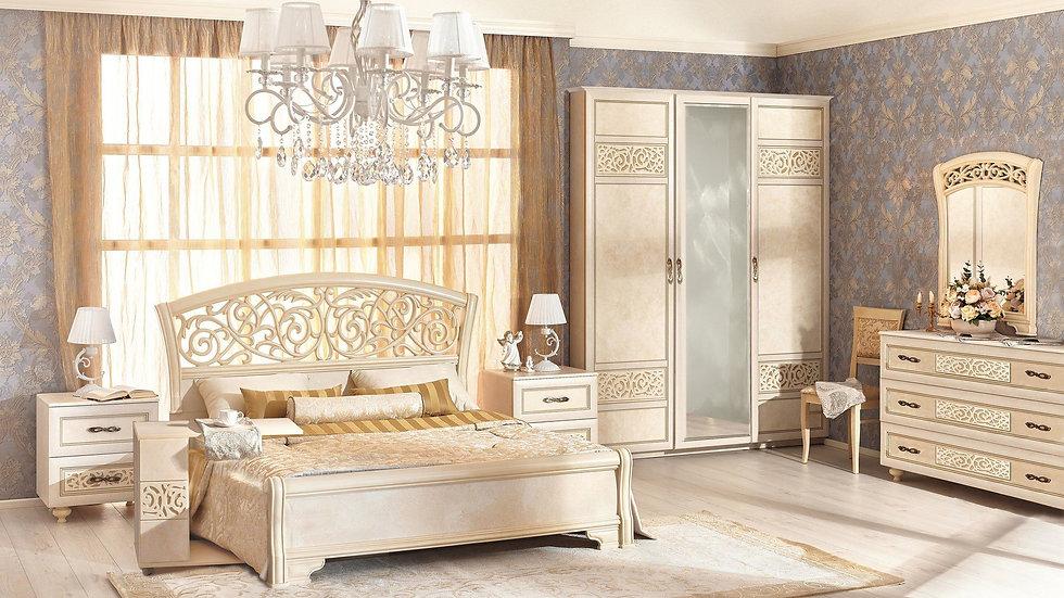 Спальня Александрия - шкаф с зеркальной дверцей