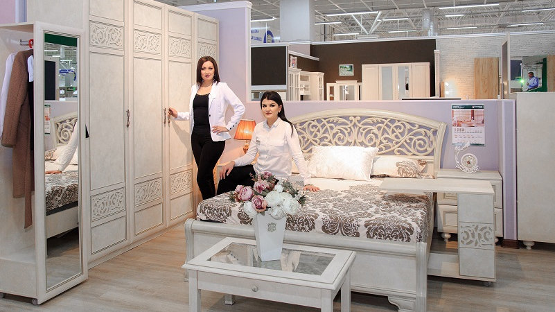 Спальня Александрия - шкаф с двумя зеркалами
